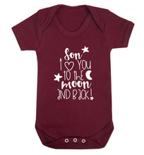 Son I love you to the moon and back Baby Vest maroon 18-24 months