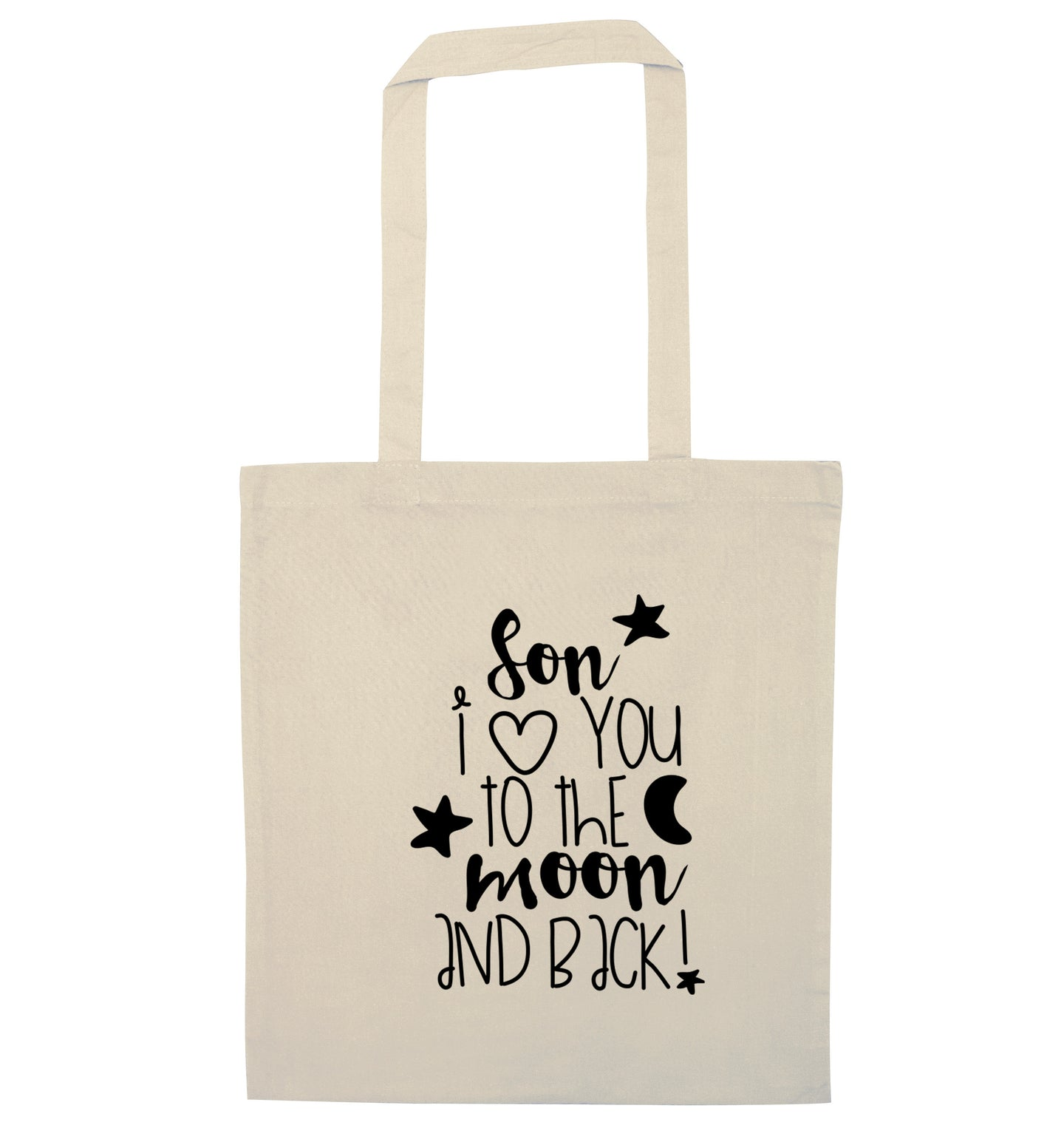 Son I love you to the moon and back natural tote bag