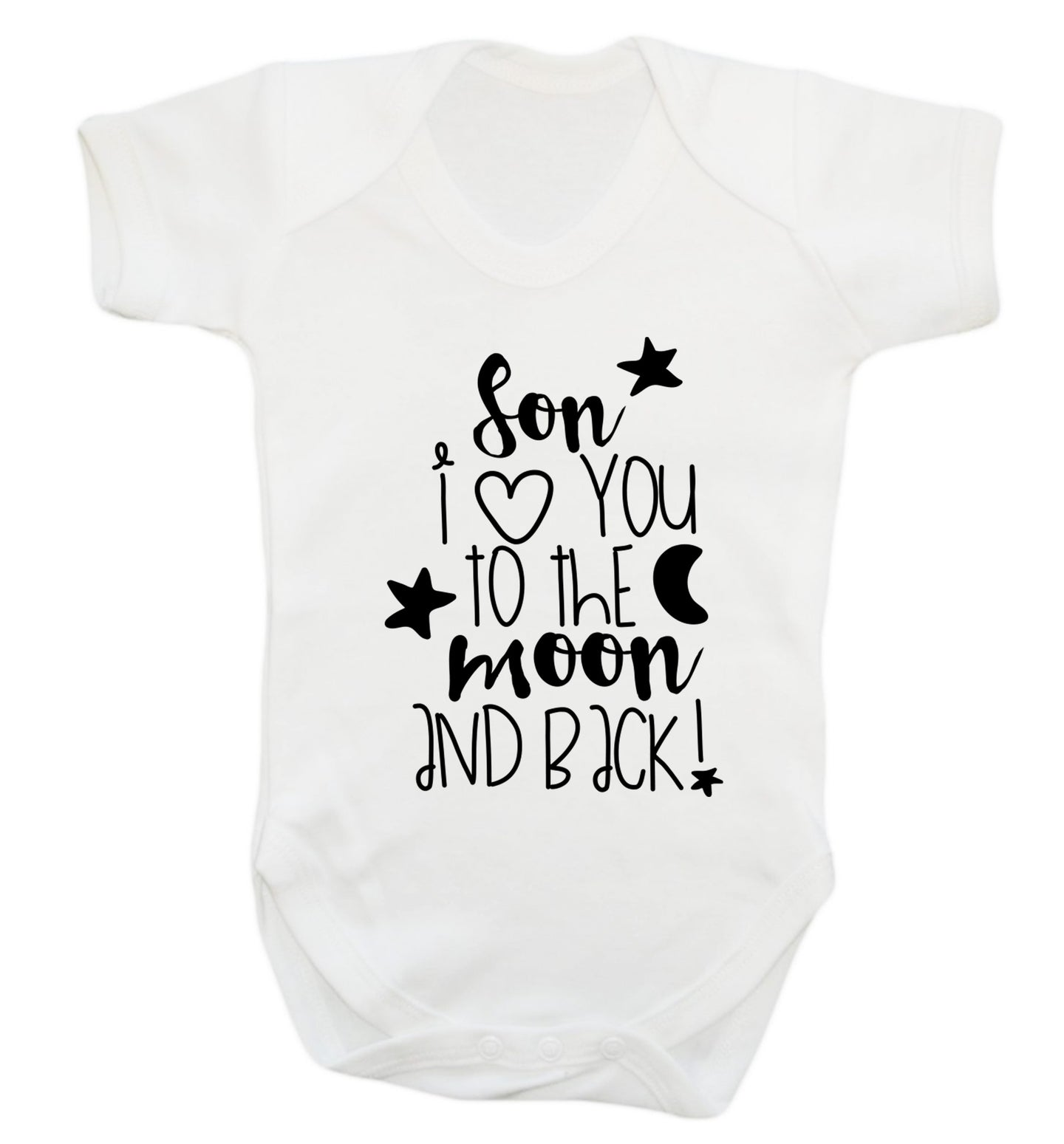 Son I love you to the moon and back Baby Vest white 18-24 months