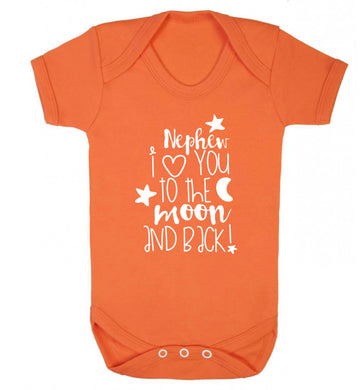 Nephew I love you to the moon and back Baby Vest orange 18-24 months
