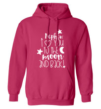 Nephew I love you to the moon and back adults unisex pink hoodie 2XL