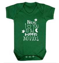 Niece I love you to the moon and back Baby Vest green 18-24 months