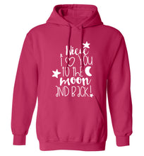 Niece I love you to the moon and back adults unisex pink hoodie 2XL