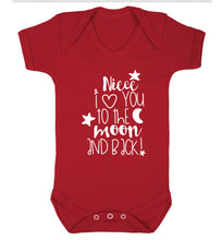 Niece I love you to the moon and back Baby Vest red 18-24 months