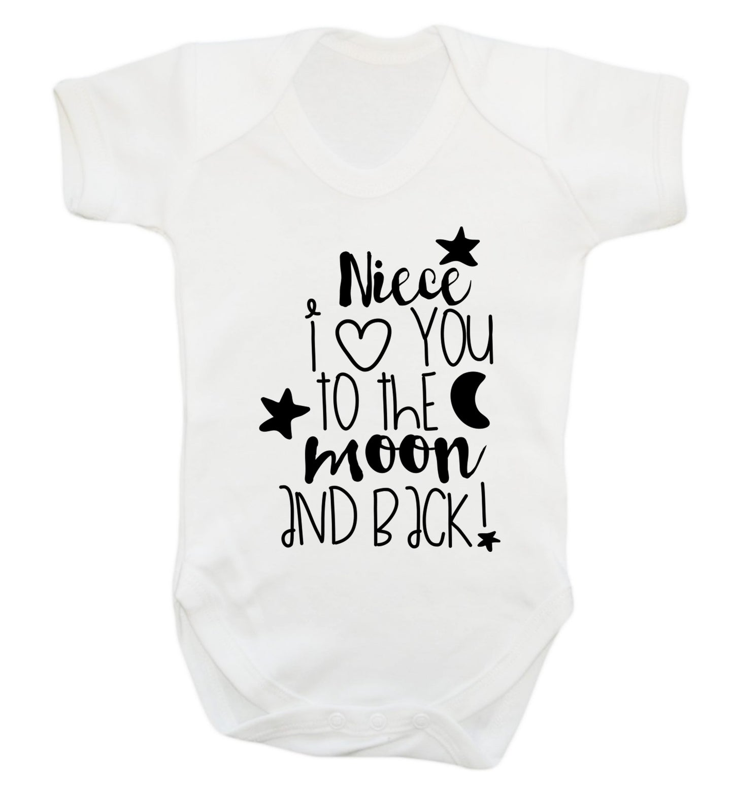 Niece I love you to the moon and back Baby Vest white 18-24 months