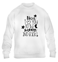 Niece I love you to the moon and back children's white  sweater 12-14 Years