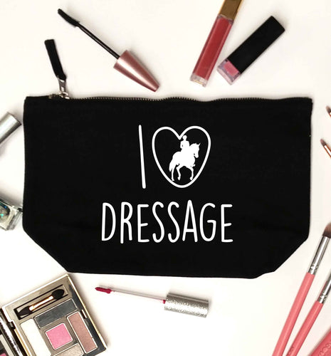 I love dressage black makeup bag