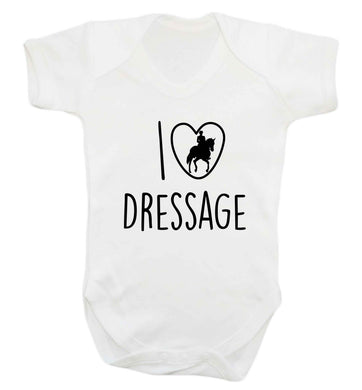 I love dressage baby vest white 18-24 months