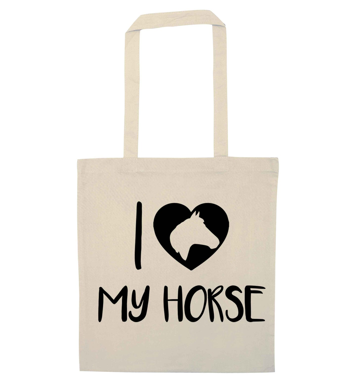 I love my horse natural tote bag