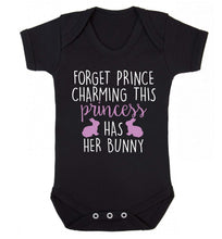 Forget prince charming this princess has her bunny Baby Vest black 18-24 months