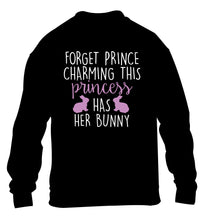 Forget prince charming this princess has her bunny children's black  sweater 12-14 Years