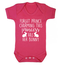 Forget prince charming this princess has her bunny Baby Vest dark pink 18-24 months