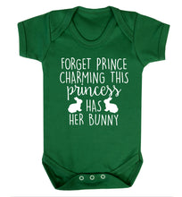 Forget prince charming this princess has her bunny Baby Vest green 18-24 months