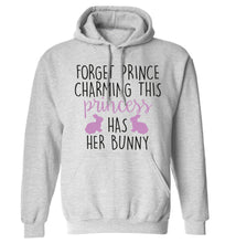 Forget prince charming this princess has her bunny adults unisex grey hoodie 2XL