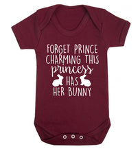 Forget prince charming this princess has her bunny Baby Vest maroon 18-24 months