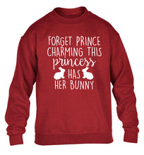 Forget prince charming this princess has her bunny children's grey  sweater 12-14 Years