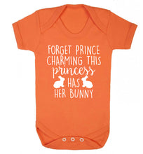 Forget prince charming this princess has her bunny Baby Vest orange 18-24 months