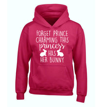 Forget prince charming this princess has her bunny children's pink hoodie 12-14 Years