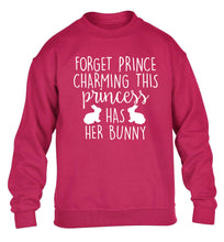 Forget prince charming this princess has her bunny children's pink  sweater 12-14 Years