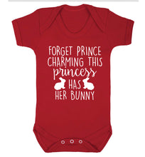Forget prince charming this princess has her bunny Baby Vest red 18-24 months
