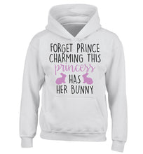 Forget prince charming this princess has her bunny children's white hoodie 12-14 Years