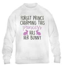 Forget prince charming this princess has her bunny children's white  sweater 12-14 Years