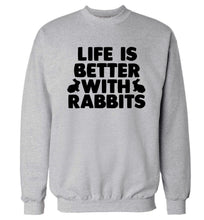 Life is better with rabbits Adult's unisex grey  sweater 2XL