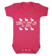 Rabbits make me happy, you not so much Baby Vest dark pink 18-24 months