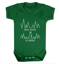 Normal heartbeat, my heartbeat rabbit lover Baby Vest green 18-24 months