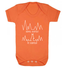 Normal heartbeat, my heartbeat rabbit lover Baby Vest orange 18-24 months