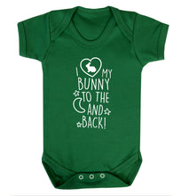 I love my bunny to the moon and back Baby Vest green 18-24 months