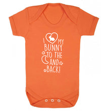 I love my bunny to the moon and back Baby Vest orange 18-24 months