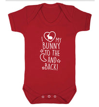 I love my bunny to the moon and back Baby Vest red 18-24 months