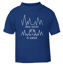Normal heartbeat vs my heartbeat guinea pig lover blue Baby Toddler Tshirt 2 Years