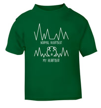 Normal heartbeat vs my heartbeat guinea pig lover green Baby Toddler Tshirt 2 Years