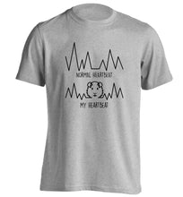 Normal heartbeat vs my heartbeat guinea pig lover adults unisex grey Tshirt 2XL