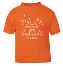 Normal heartbeat vs my heartbeat guinea pig lover orange Baby Toddler Tshirt 2 Years