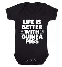 Life is better with guinea pigs Baby Vest black 18-24 months