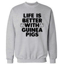 Life is better with guinea pigs Adult's unisex grey  sweater 2XL
