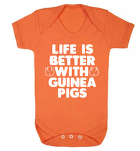 Life is better with guinea pigs Baby Vest orange 18-24 months