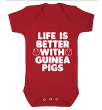 Life is better with guinea pigs Baby Vest red 18-24 months