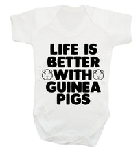 Life is better with guinea pigs Baby Vest white 18-24 months