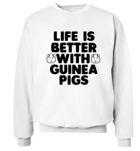 Life is better with guinea pigs Adult's unisex white  sweater 2XL