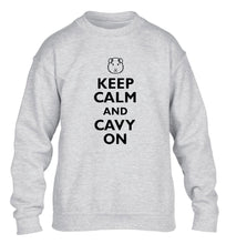 Keep calm and cavvy on children's grey  sweater 12-14 Years