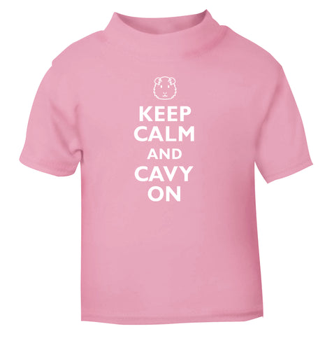 Keep calm and cavvy on light pink Baby Toddler Tshirt 2 Years