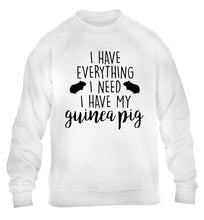 I have everything I need, I have my guinea pig children's white  sweater 12-14 Years
