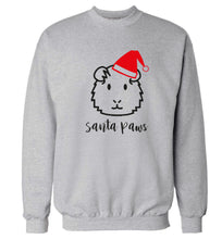Guinea pig Santa Paws Adult's unisex grey  sweater 2XL