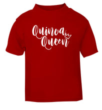 Quinoa Queen red Baby Toddler Tshirt 2 Years