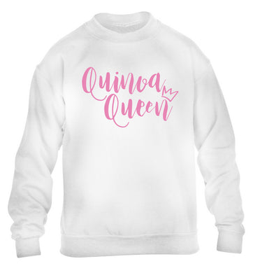 Quinoa Queen children's white  sweater 12-14 Years