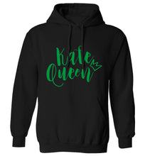 Kale Queen adults unisex black hoodie 2XL